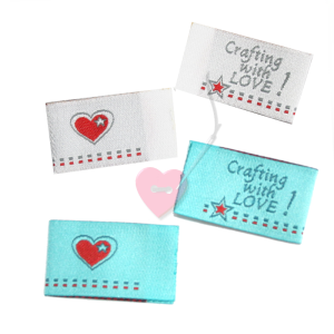 "farbenmix Webetikett ""Crafting with LOVE"" 4er Set Labels"