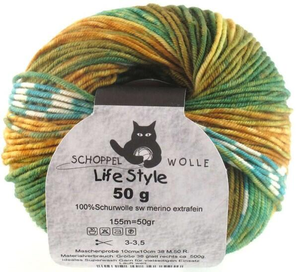 Schoppel Wolle Life Style magic - Wolle extra fein vom Merinoschaf  Farbe: Kiwi-Cocktail