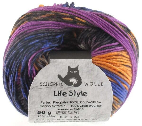 Schoppel Wolle Life Style magic - Wolle extra fein vom Merinoschaf  Farbe: Kleopatra