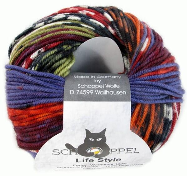 Schoppel Wolle Life Style magic - Wolle extra fein vom Merinoschaf  Farbe: Warmfront