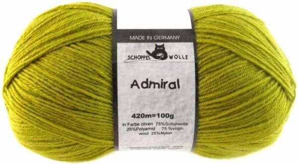 Schoppel Admiral 4fach-Sockenwolle Farbe oliven