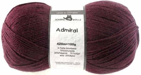 Schoppel Admiral 4fach-Sockenwolle Farbe brombeer