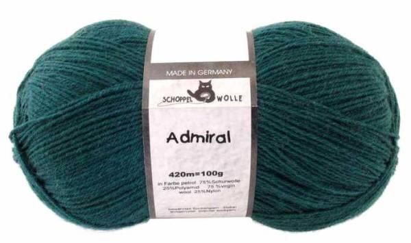 Schoppel Admiral 4fach-Sockenwolle Farbe petrol