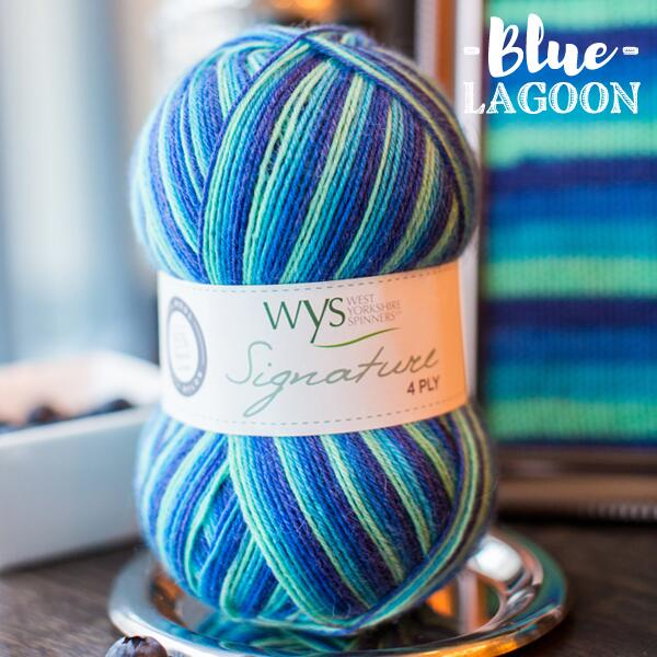 "West Yorkshire Spinners Signature 4ply  ""Cocktail Range "" Sockengarn Farbe: Blue Lagoon"