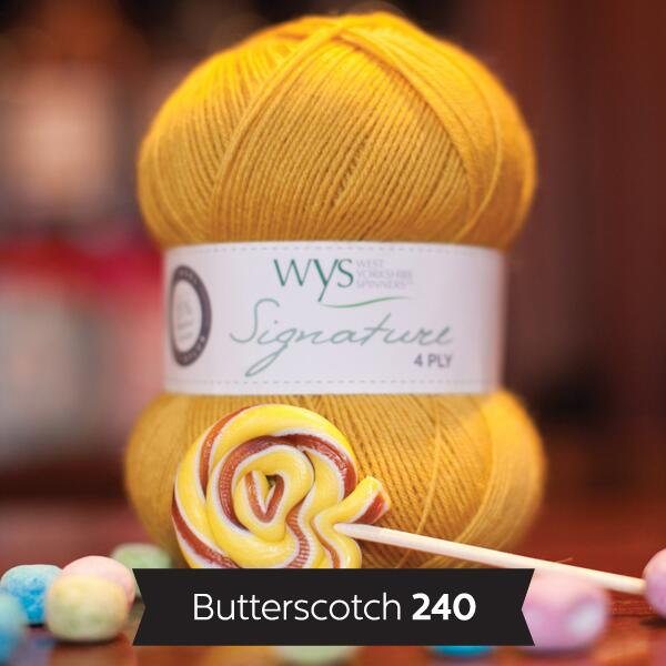 "West Yorkshire Spinners Signature 4ply  ""Sweet Shop "" Farbe: Butterscotch"
