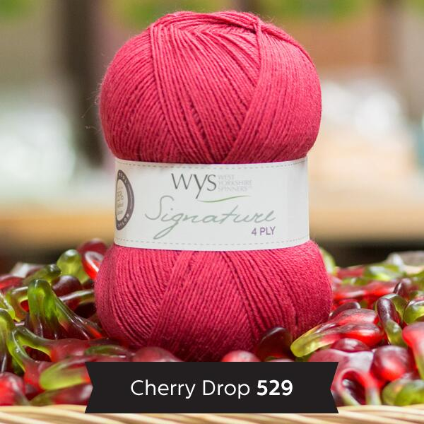 "West Yorkshire Spinners Signature 4ply  ""Sweet Shop "" Farbe: Cherry Drop"
