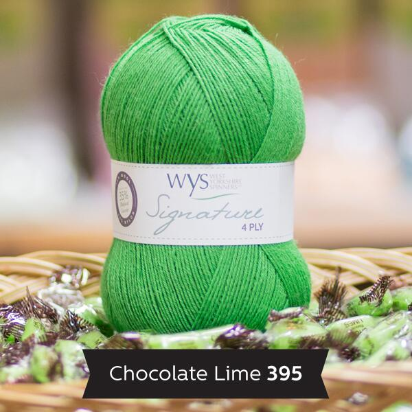 "West Yorkshire Spinners Signature 4ply  ""Sweet Shop "" Farbe: Chocolate Lime"