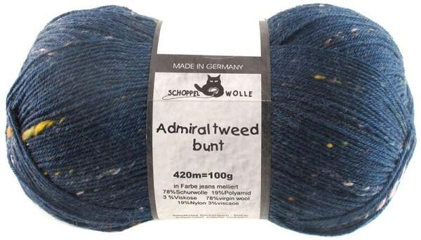 Schoppel Wolle Admiral 4-fach Tweed Sockengarn Farbe Jeans meliert