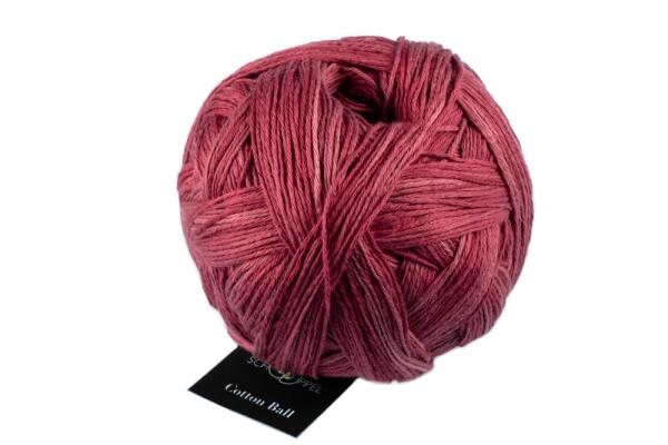 Schoppel Wolle Cotton Ball - Bio Baumwolle Farbe: Bordeaux