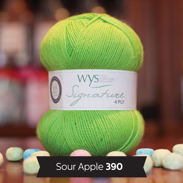 "West Yorkshire Spinners Signature 4ply  ""Sweet Shop "" Farbe: Sour Apple"