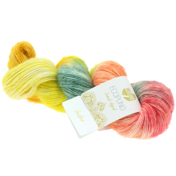 Lana Grossa Ecopuno hand-dyed LIMITED EDITION Frabe: 508 Indra
