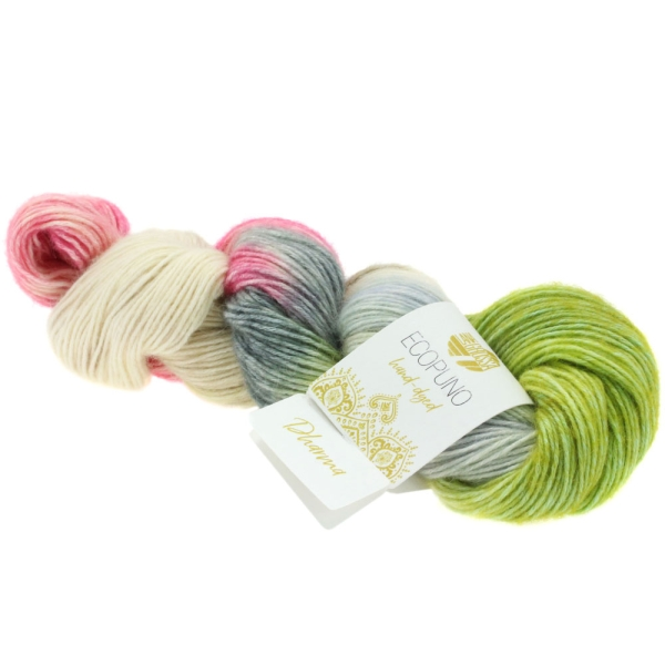 Lana Grossa Ecopuno hand-dyed LIMITED EDITION Farbe: 510 Dharma