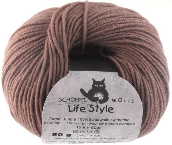 Schoppel Wolle Life Style uni - Wolle extra fein vom Merinoschaf Farbe: Tundra